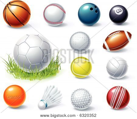 Vector sport equipment icons