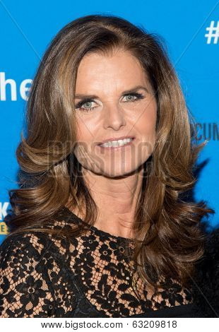 NEW YORK-MAR 13: TV personality Maria Shriver attends the 'Paycheck To Paycheck: The Life And Times Of Katrina Gilbert' premiere at HBO Theater on March 13, 2014 in New York City.