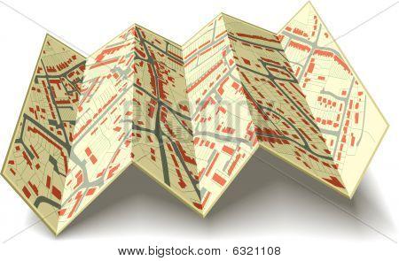 Folding street map