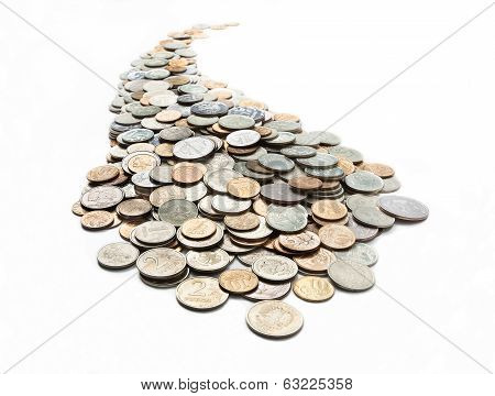 The Curvilinear Trajectory Of The Coins