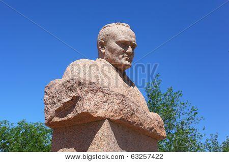 Statue of Sergey Korolev in Baikonur