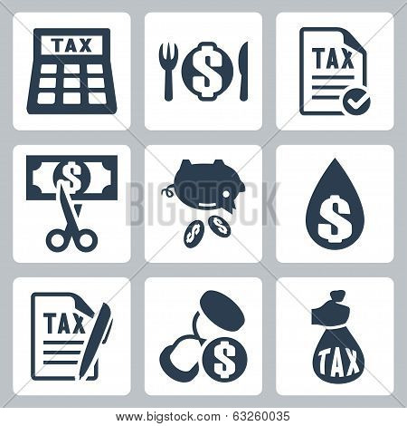 Vector Tax Icons Set