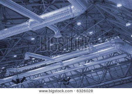 Ceiling Of Industrial Building.