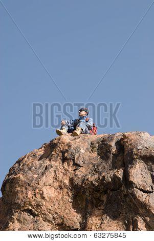 Mountaineer Looking Around