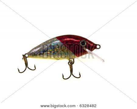 Old Red Fishing Wobbler A Small Fish