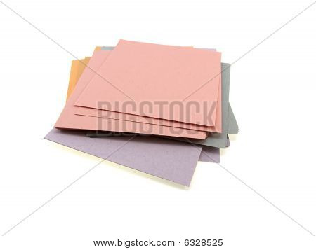 Pile Of Different Multi-coloured Office Paper