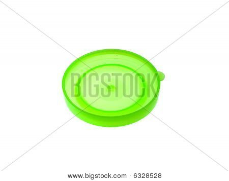 Green Plastic Cap On Bank