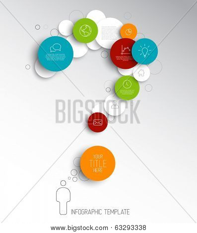 Light Vector abstract circles illustration / infographic template with place for your content