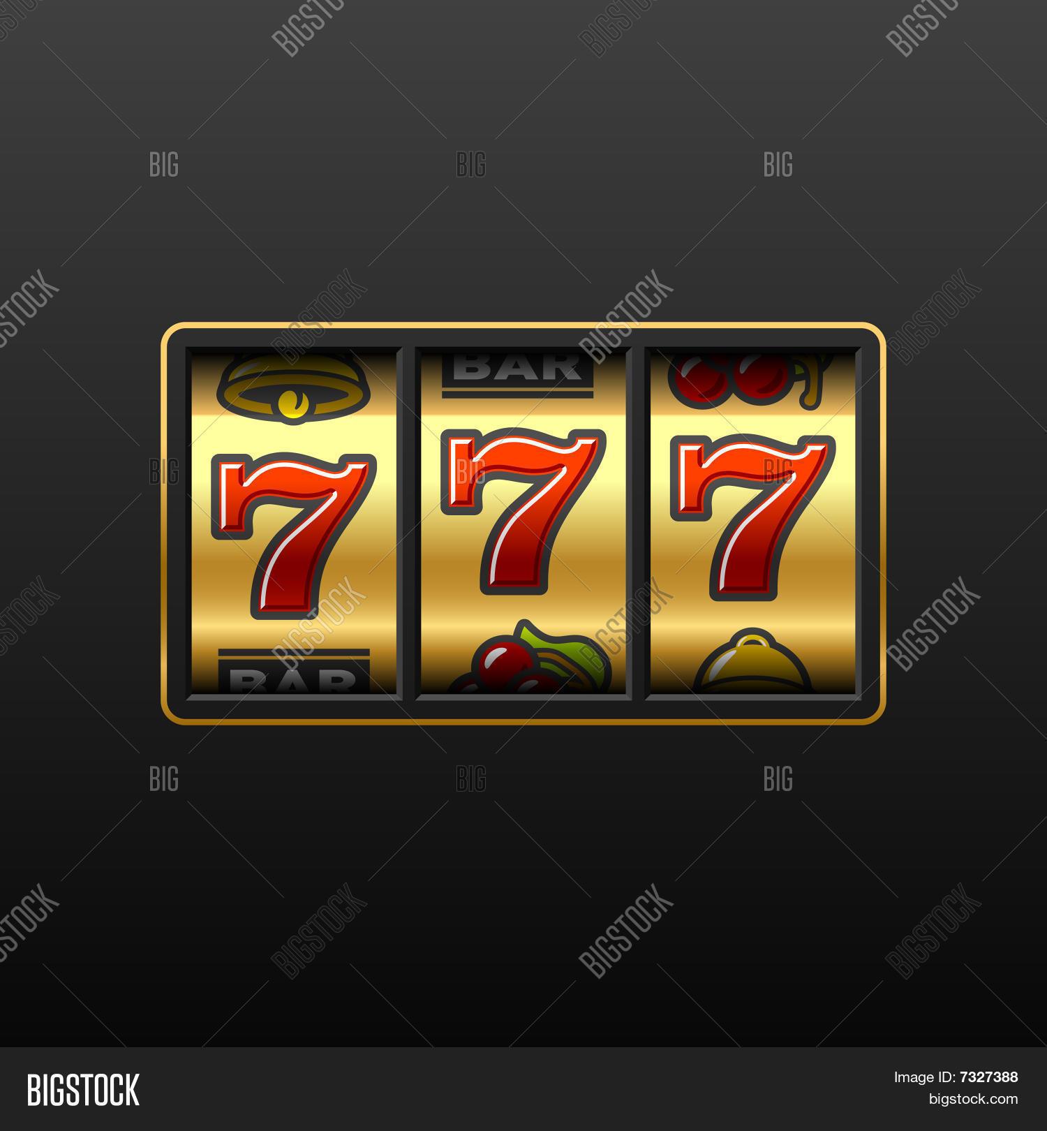 777 Winning Slot Vector Photo Free Trial Bigstock