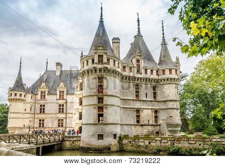 View At The Chateau Azay Le Rideau