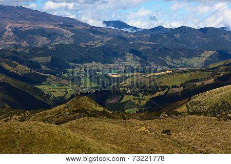 View from Cruz Loma at Quito, Ecuador