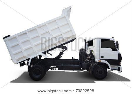 White Truck On White