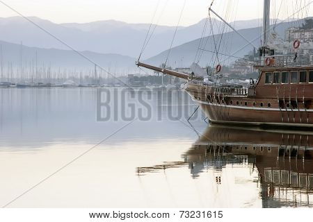 A Ship In Harbor
