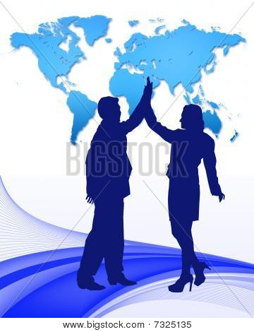 high five business vector