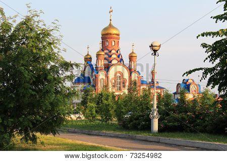 Temple of St. Seraphim of Sarov. Zelenogorsk. Krasnoyarsk region