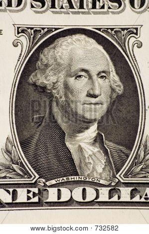 Washington on a $1 bill