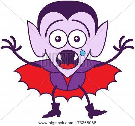 Halloween Dracula feeling scared