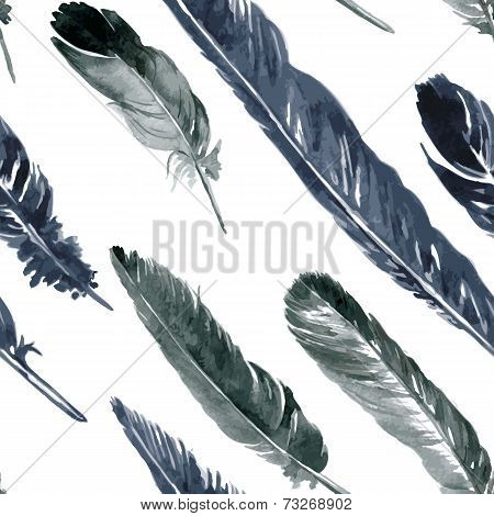 seamless pattern with plumes