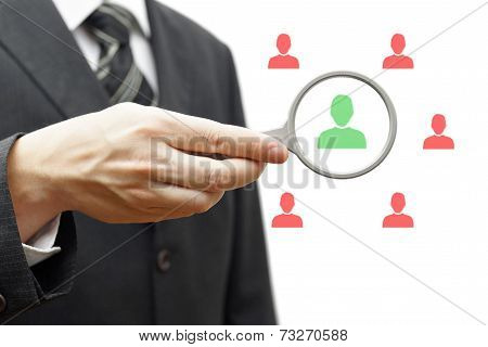Choosing The Right Person For Hiring In Magnifying Glass