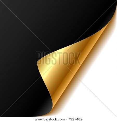 Easy editable vector illustration of curled corner poster