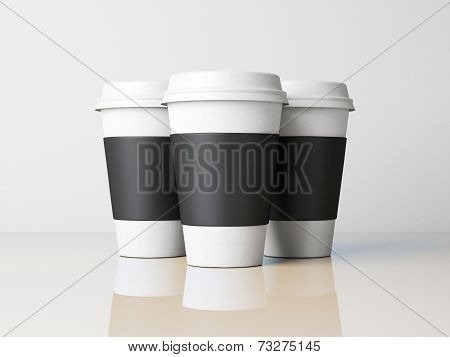 Three Paper Cups