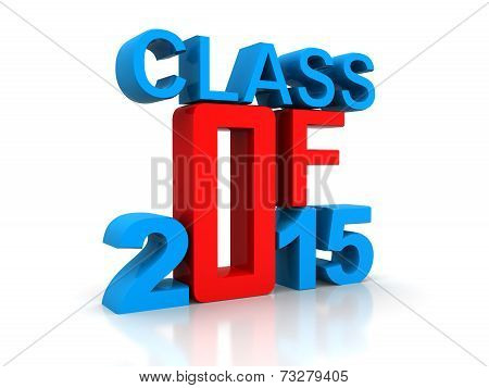 Class of 2015 written in vintage letterpress type poster