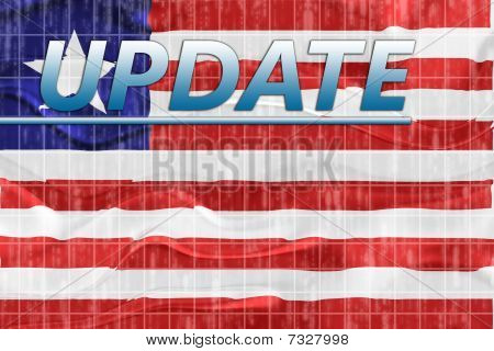 Flag Of Liberia Wavy News