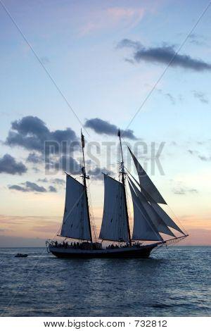 Ship At Evening Sail