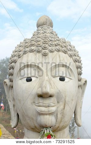Head Of Buddha Image in Public Temple