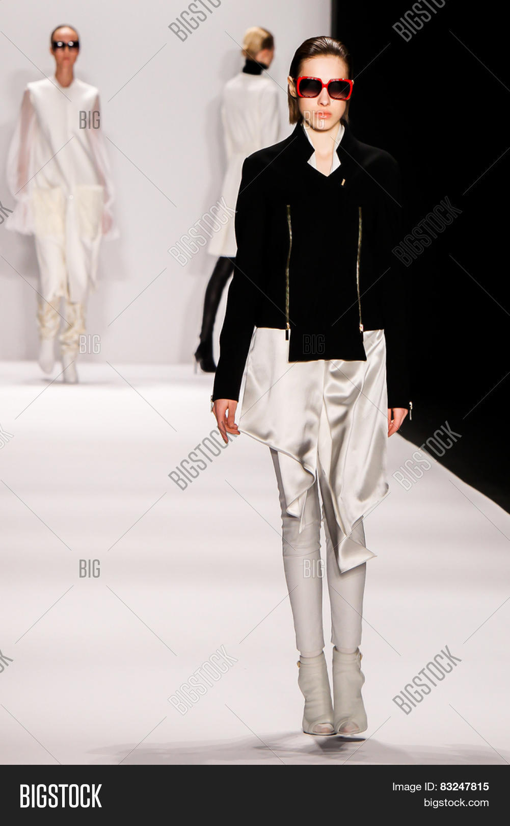 NEW YORK   FEB. 18, 2015: A Model Walks The Runway At The