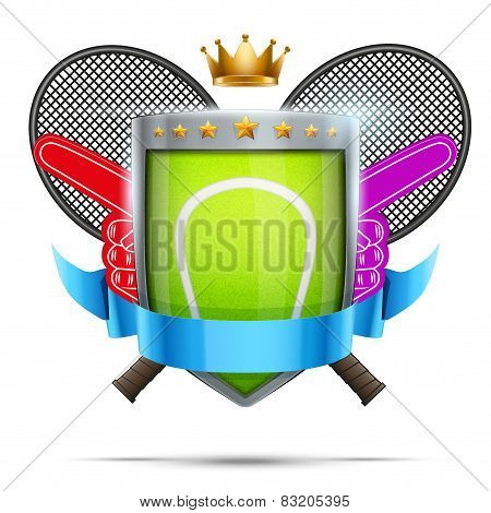 Label for tennis sport competition. Bright premium design. Vector