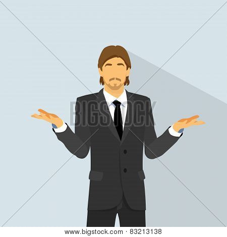 man confused expression hold palm up question, unexpected hand gesture of no ideas, Doubtful busines