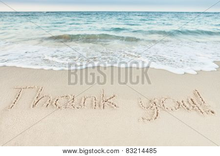 Word Vacation Written On Beach