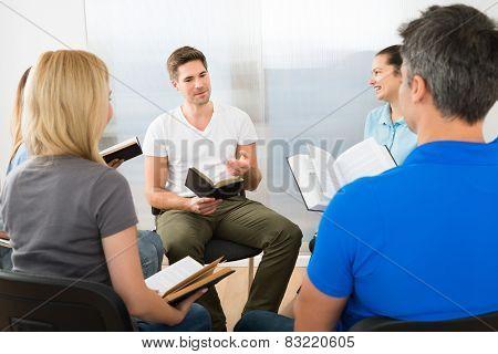 Man Explaining Gospel