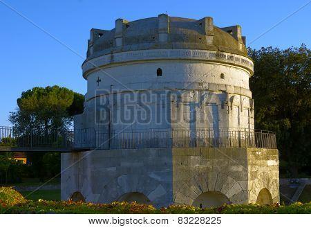 Historical mausoleum in Ravenna built by Byzantines