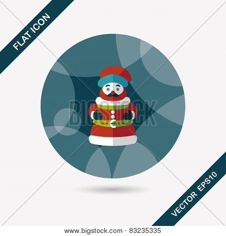 Santa Claus Flat Icon With Long Shadow Eps10