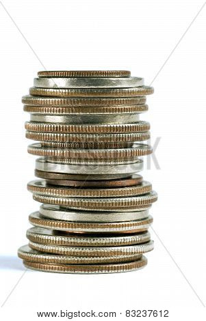 Stack Of Different Coins