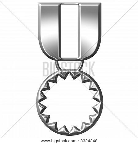3D Silver Medal Of Honour