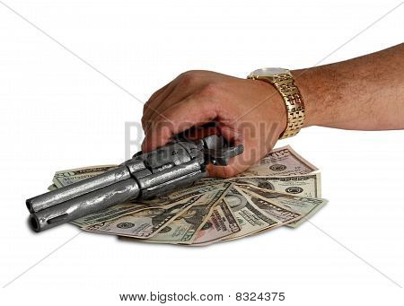 Business For Couple Of Dollars With Gun