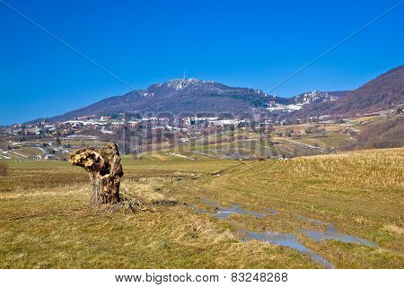 Kalnik Mountain Nature Winter View