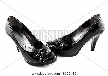 black shoes on white background isolated