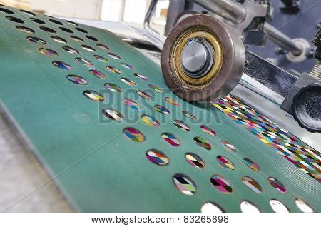 offset Printing machine in print house