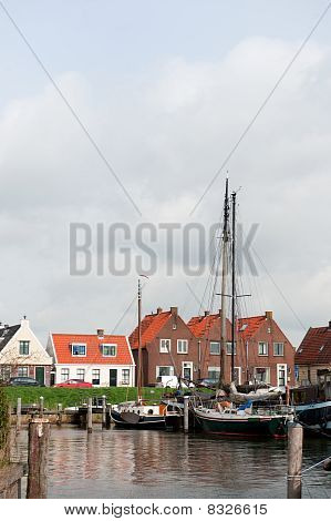 Typical Boats In Dutch Village