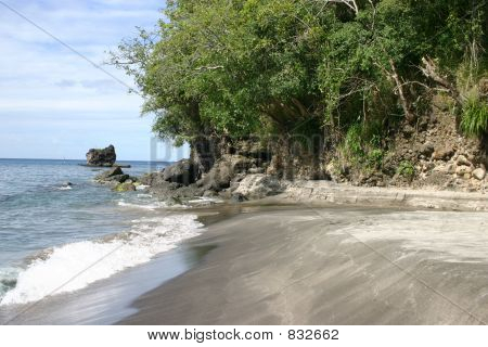 St. Lucia Beach Scenic View
