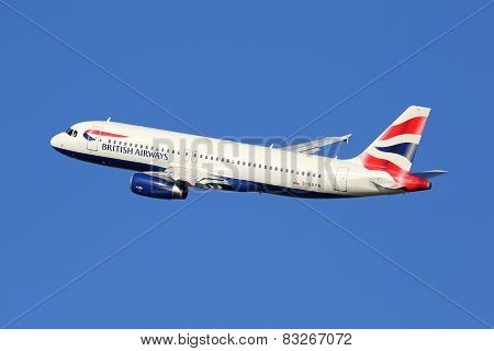 British Airways Airbus A320 Airplane