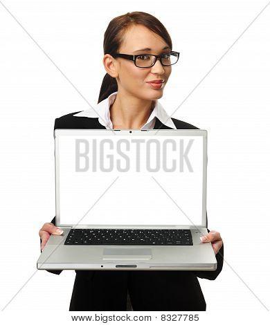 attraktiv Business Woman with copyspace
