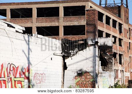 Abandoned factory building
