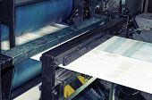 Printing machine hith speed roto offset print press newspaper and magazine production industry poster