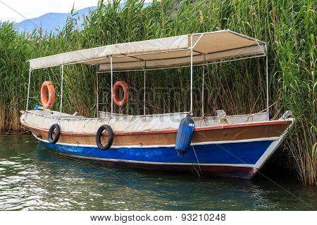 Boat On Dalyan Coastline