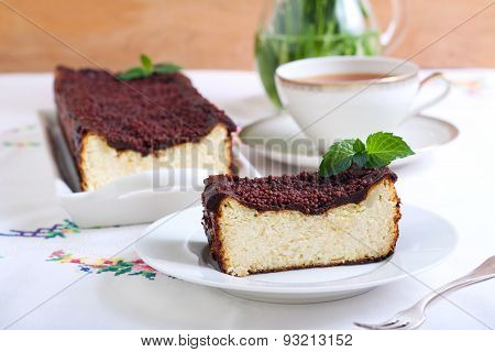 Cheesecake With Chocolate Topping